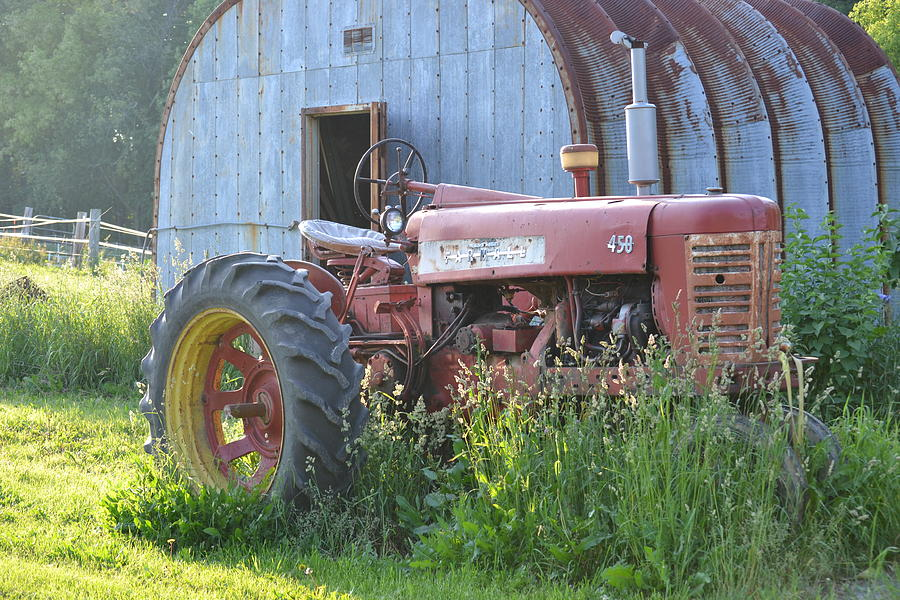 Tractor Photograph - Farmall by Rachel Nuest
