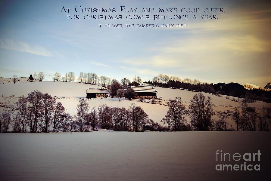 Winter Photograph - Farmers Christmas by Sabine Jacobs