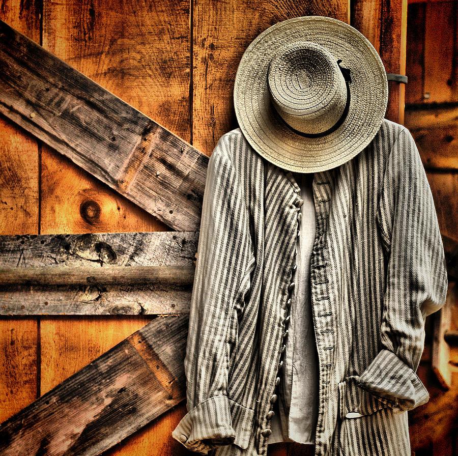 Antique Photograph - Farmers Wear by Pat Abbott