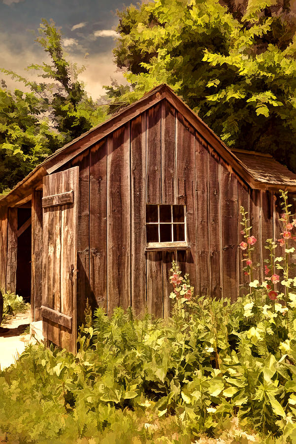 Vintage Photograph - Farming Shed by Lourry Legarde