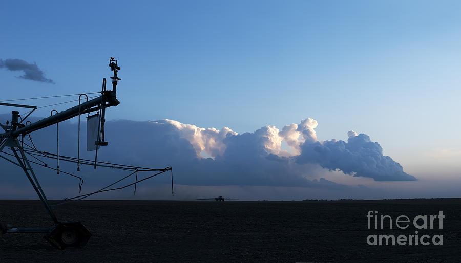 Prairie Sunset Photograph - Farmland Sunset by Art Whitton