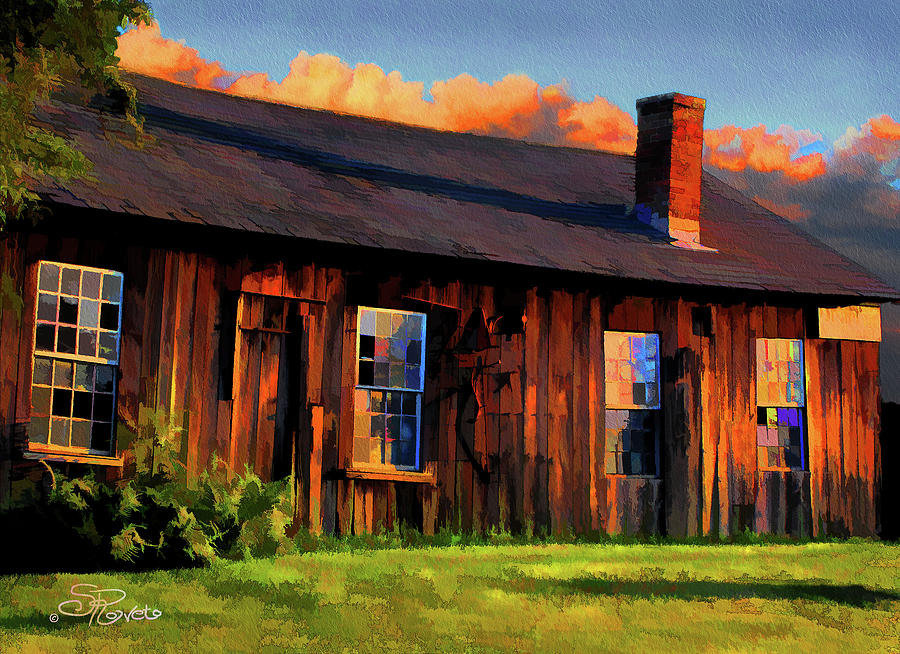 Shed Painting - Farriers Shed by Suni Roveto