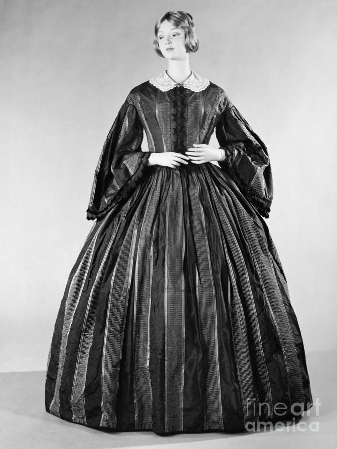 1860 Photograph - Fashion: Dress, C1860 by Granger