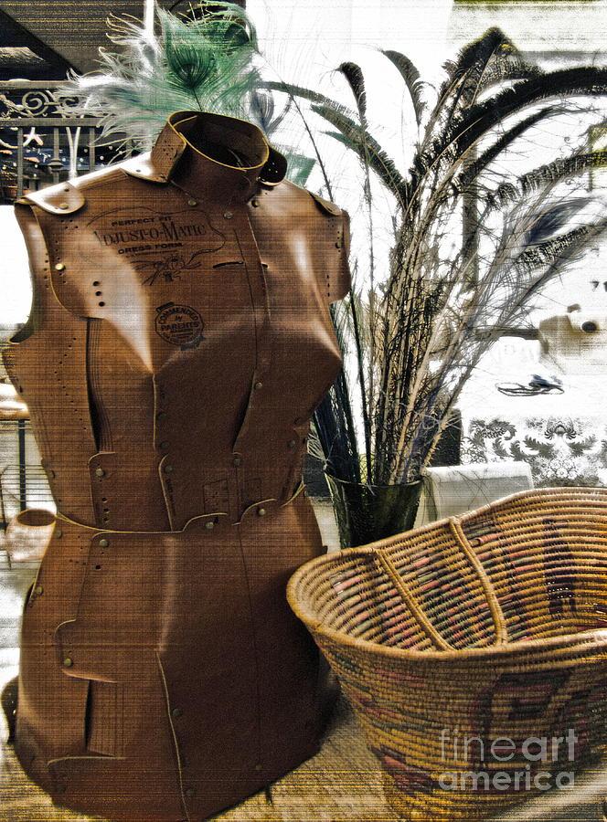 Dress Form Photograph - Fashionable Flea Market by Gwyn Newcombe