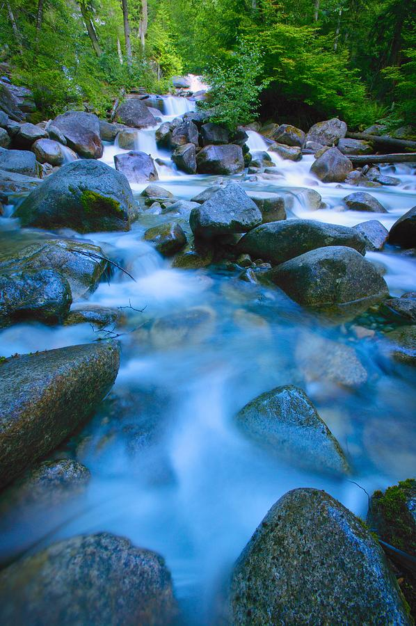 Fresh Photograph - Fast-flowing River by Don Hammond