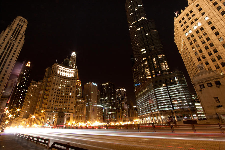 Chicago Photograph - Fast Forward by Daniel Chen