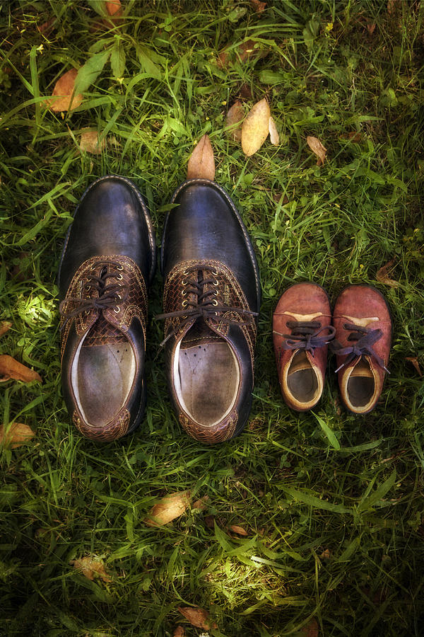 Shoe Photograph - Father And Child by Joana Kruse