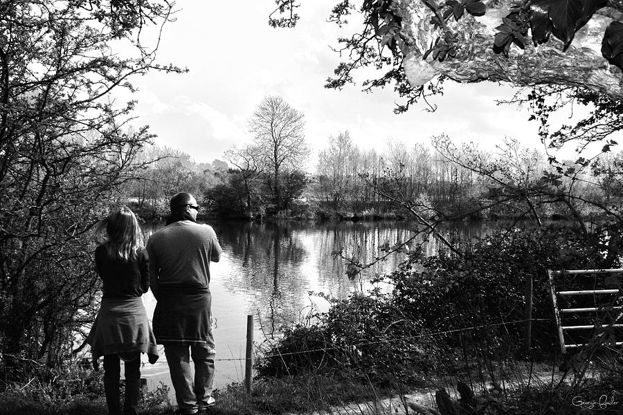 River Dee Photograph - Father And Daughter - River Dee Chester by Georgia Fowler
