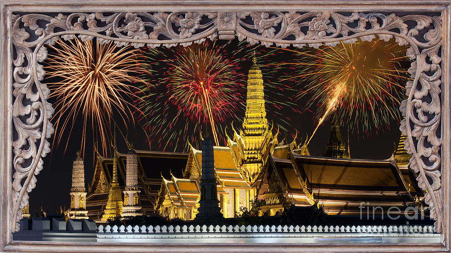 Ancient Photograph - Father Celebrate In Wat Phra Kaew  by Anek Suwannaphoom