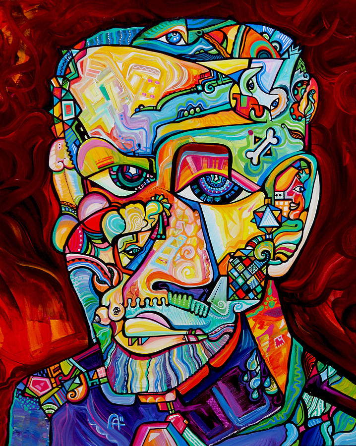 Freid Painting - Father Of Psychoanalysis by Alex Arshansky