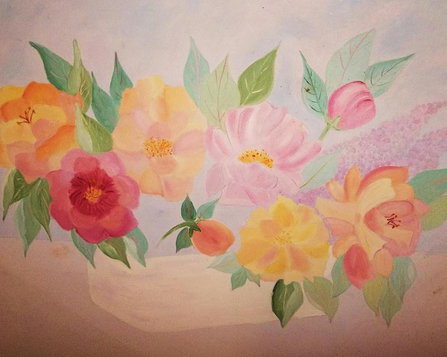 Floral Painting - Favorite Flowers by Alanna Hug-McAnnally