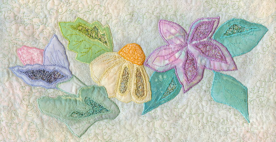 Blooms Tapestry - Textile - Favourite Lacy Blooms by Denise Hoag