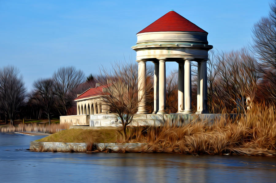 Boathouse Photograph - Fdr Park Gazebo And Boathouse by Bill Cannon