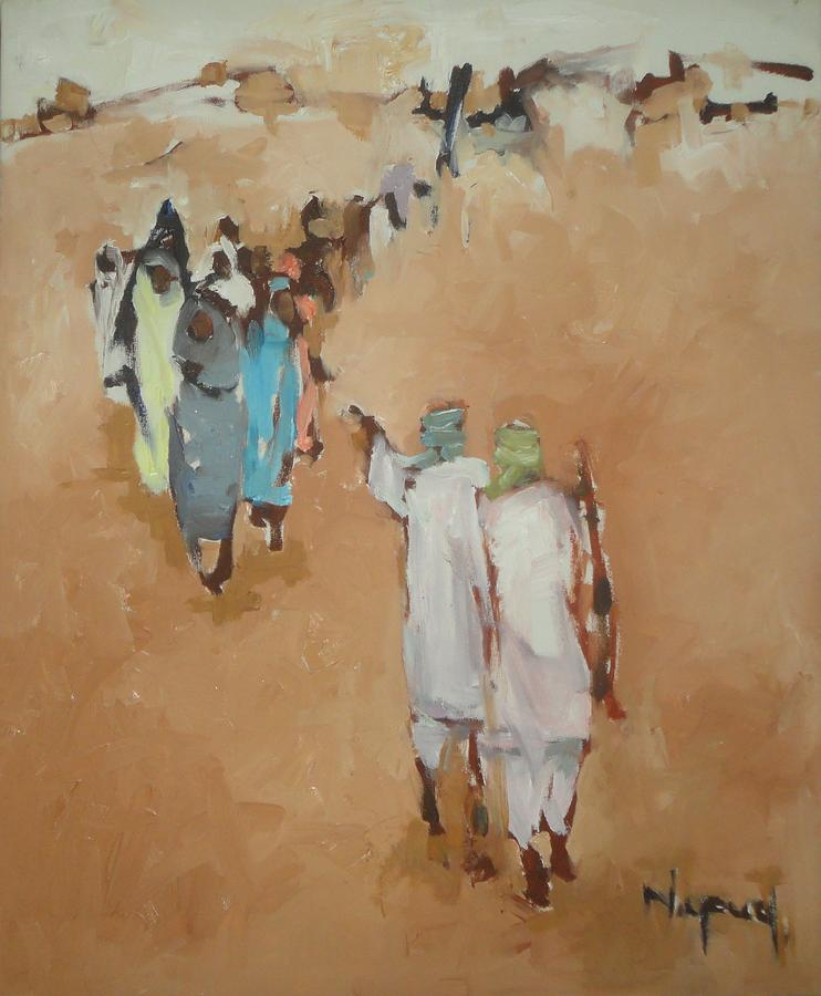 Landscape Painting - Fear  by Negoud Dahab