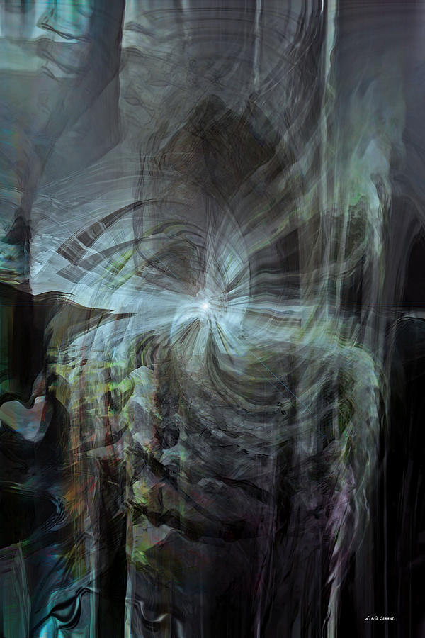 Abstract Digital Art - Fear Of The Unknown by Linda Sannuti