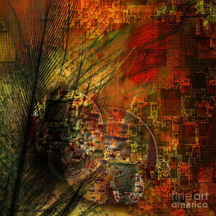 Abstraction Digital Art - Feather Touch by Monroe Snook