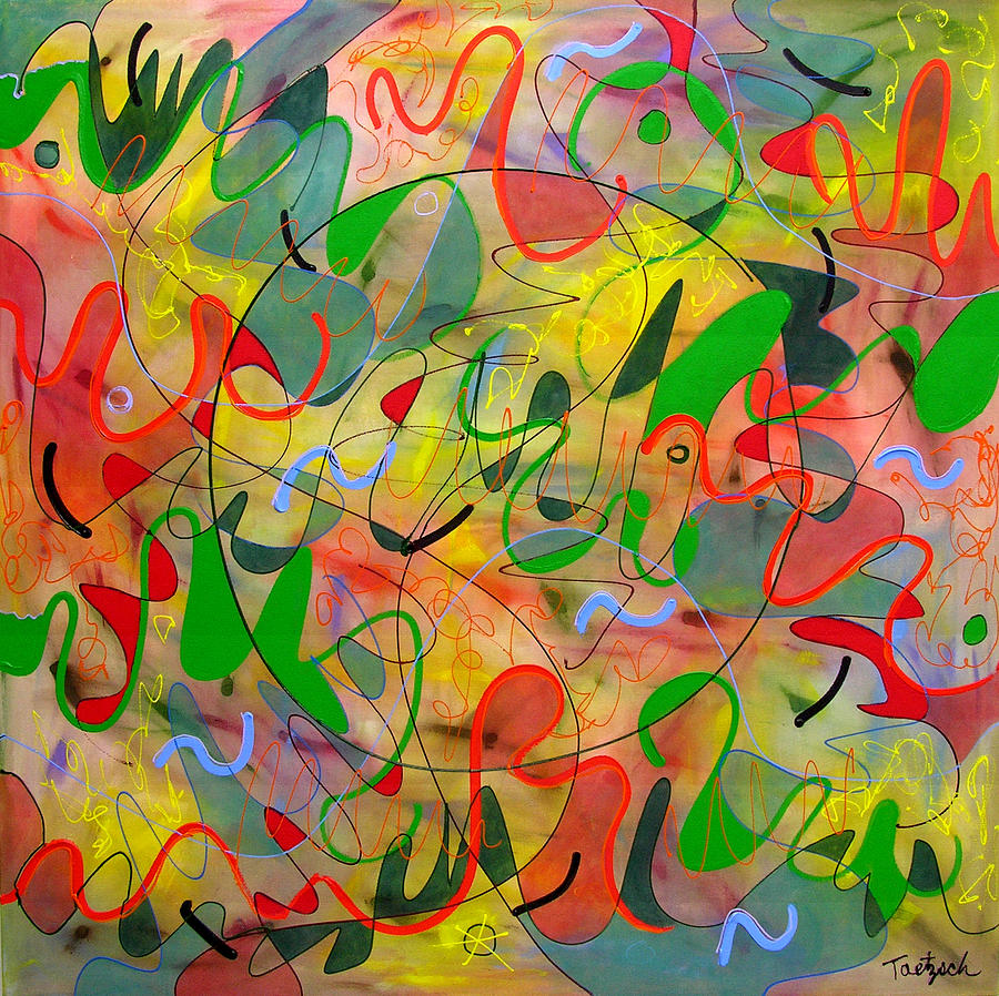 Abstract Painting - Feathered Nest Three by Lynne Taetzsch