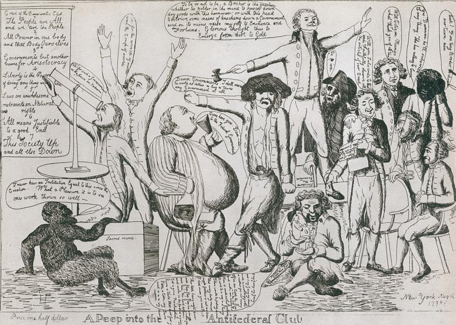 History Photograph - Federalist Cartoon Of 1793 Shows by Everett