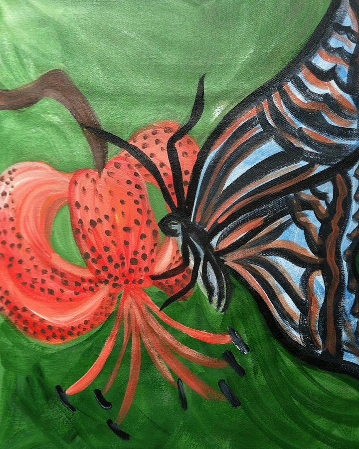 Nature Painting - Feeding On Gods Goodness by Bethany Stanko