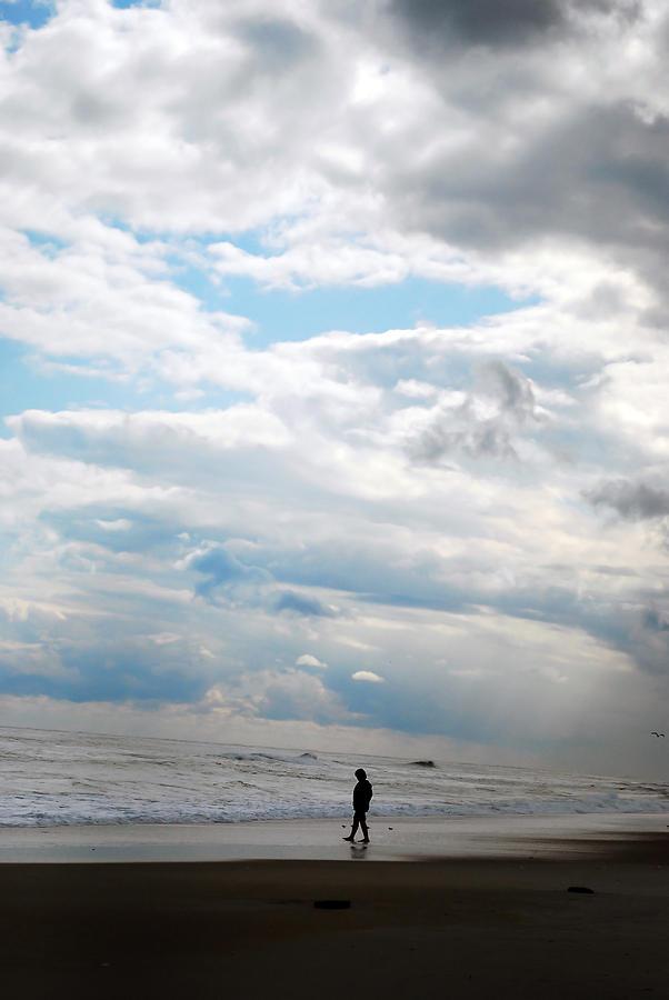 Silhouette Photograph - Feeling Small by Lori Tambakis