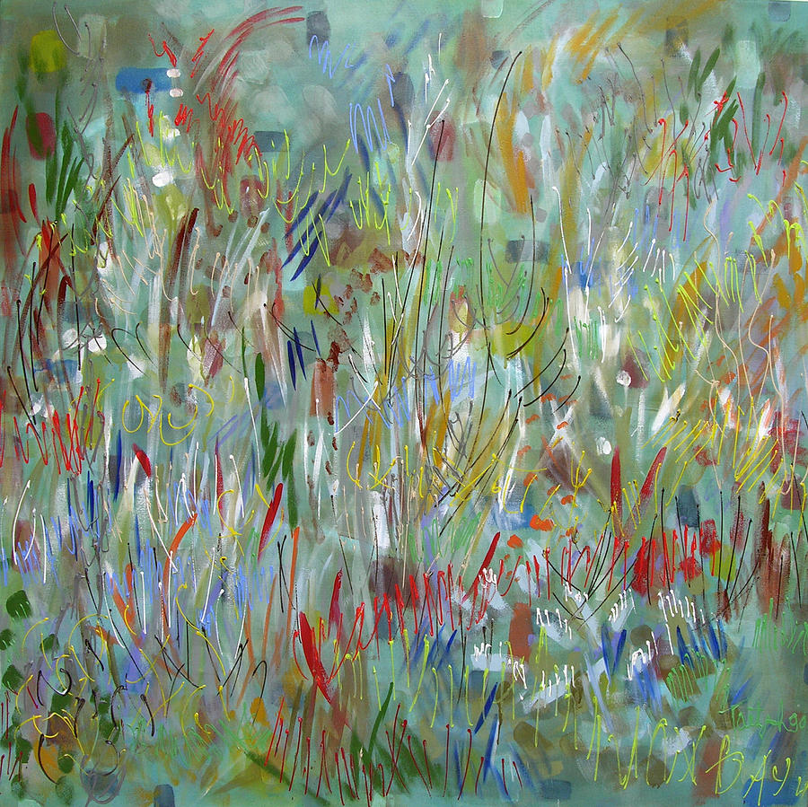 Abstract Painting - Feeling Your Way by Lynne Taetzsch