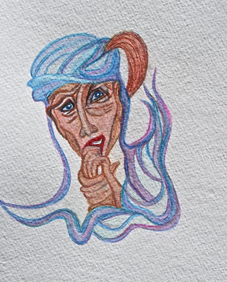 Portrait Painting - Feelings by Ruth Edward Anderson