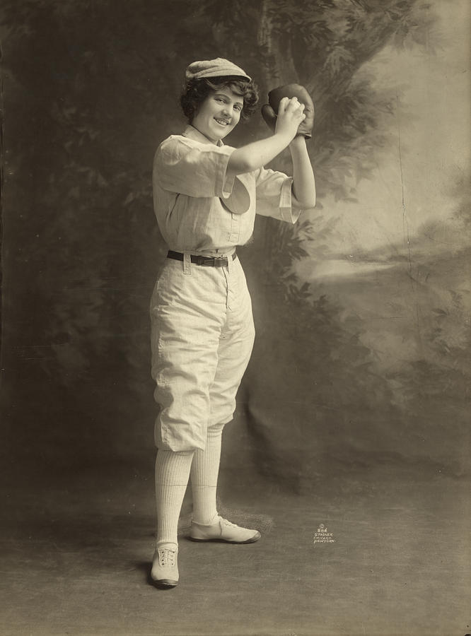 American Photograph - Female Baseball Player by Granger