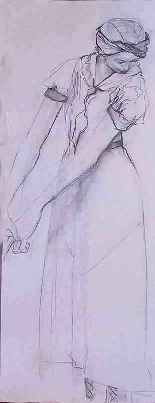 Nudes Painting - Female Figure 4269 by Elizabeth Parashis