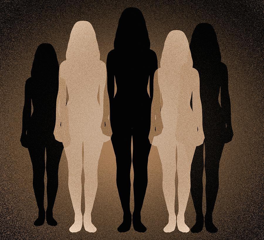 Human Photograph - Female Identity, Conceptual Image by Victor De Schwanberg
