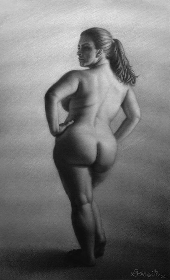 Nude figure drawing model vag, nude girl tied to table