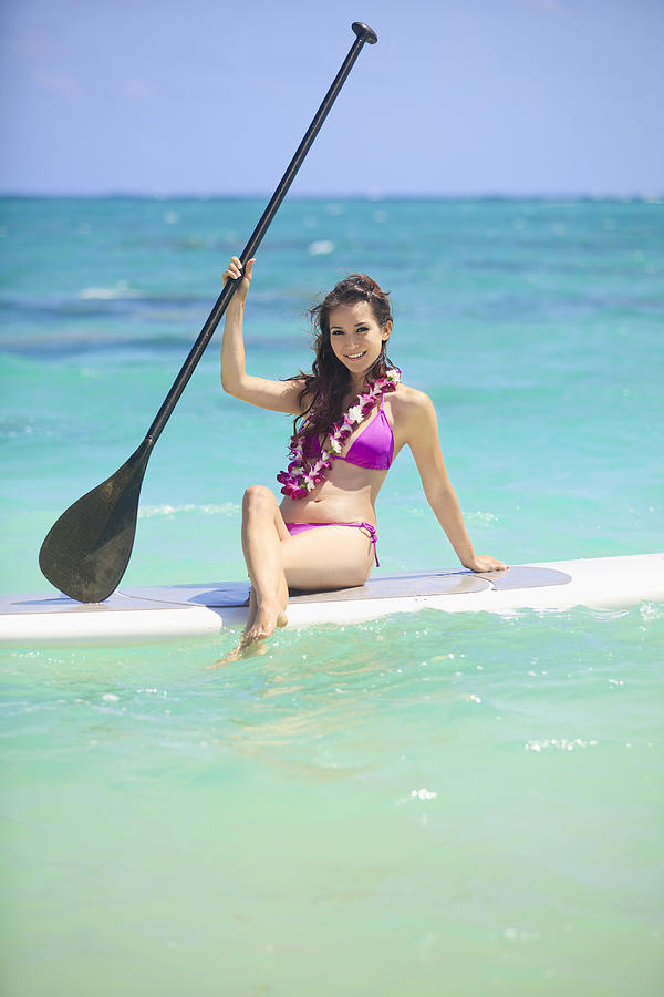 Athletic Photograph - Female Paddler II by Tomas del Amo