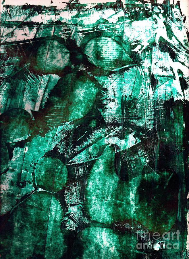 Female Study In Green Painting by Timothy Fleming