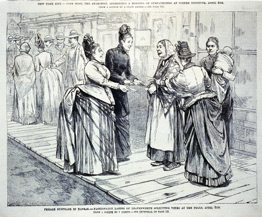 History Photograph - Female Suffrage In Kansas. Ladies by Everett