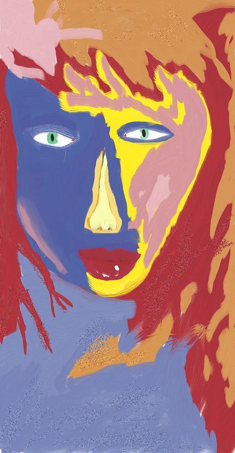 Portrait Digital Art - Feminine Fire by Mark Stidham