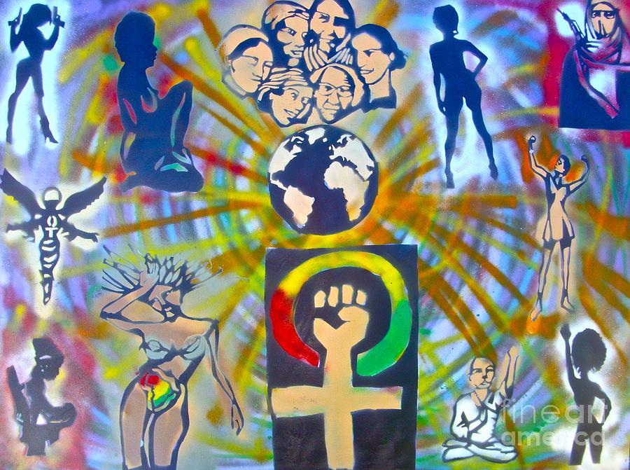 Hip Hop Painting - Feminism 101 by Tony B Conscious