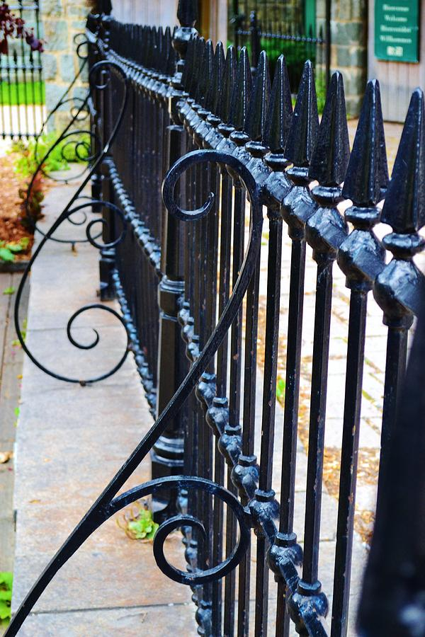 Iron Fence Photograph - Fence Iron by Josee Dube