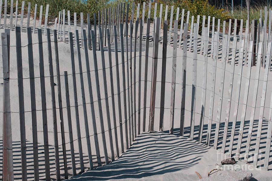 Hamptons Photograph - Fence Patterns II by Andrea Simon