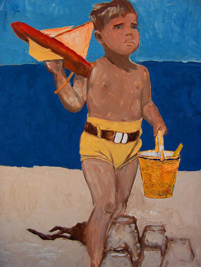 Child Portrait Painting - Fernando by Azul Fam