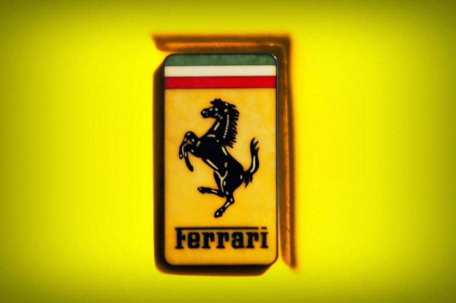 Ferrari Emblem Photograph By Bill Cannon