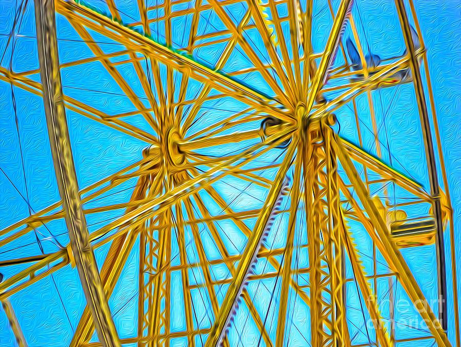 Ferris Wheel Painting - Ferris Wheel by Gregory Dyer