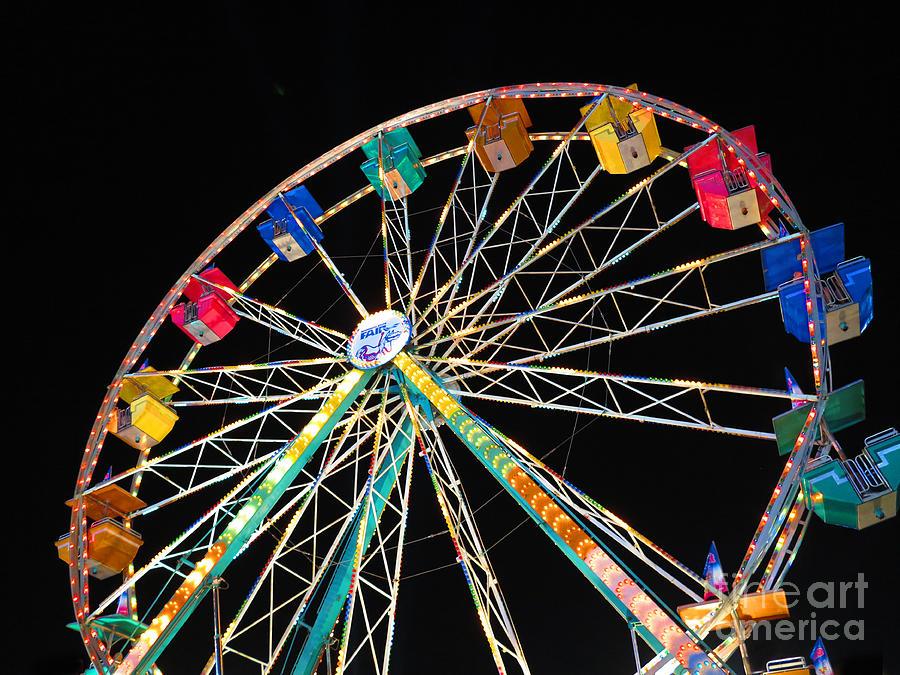 Ferris Wheel Photograph - Ferris Wheel II by Heidi Hermes