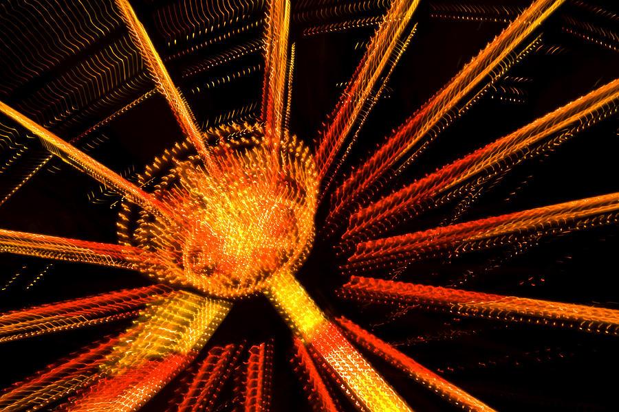 Light Photograph - Ferris Wheel Lights by Jeffrey Auger