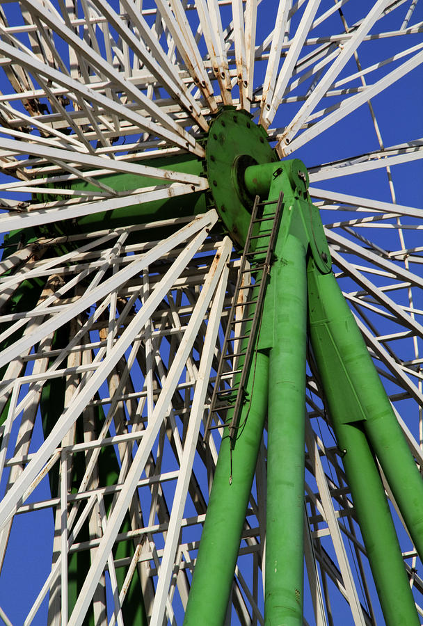 Amusement Photograph - Ferris Wheel  by Stelios Kleanthous