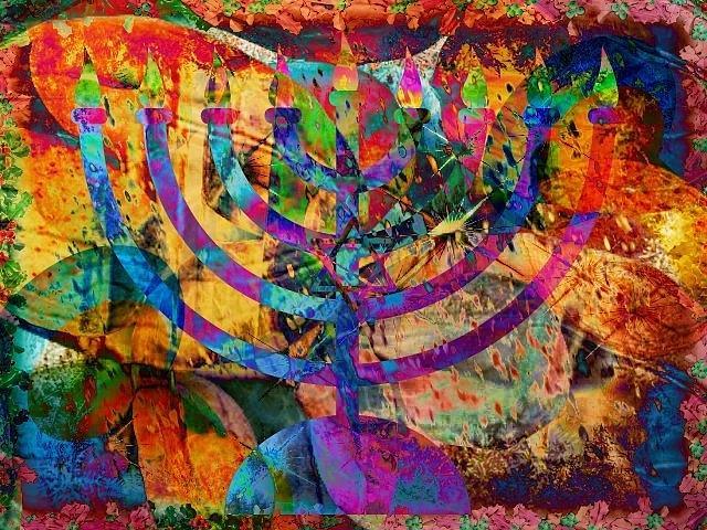 Chanukah Digital Art - Festival Of Lights by YoMamaBird Rhonda