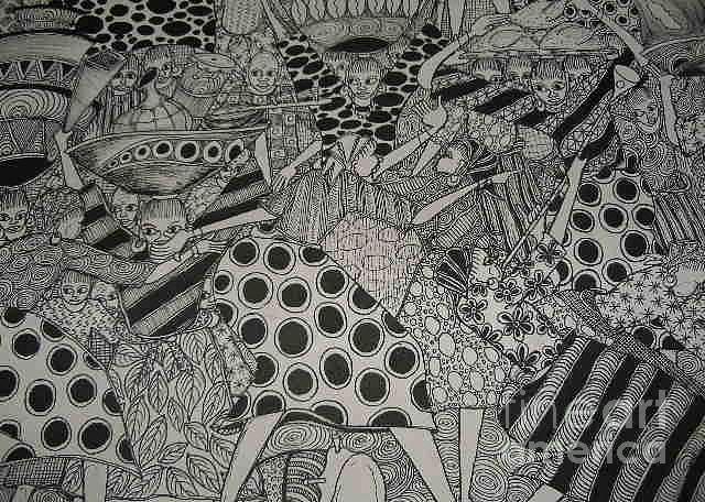 Festival Of Love Drawing by Emmanuel Aderele
