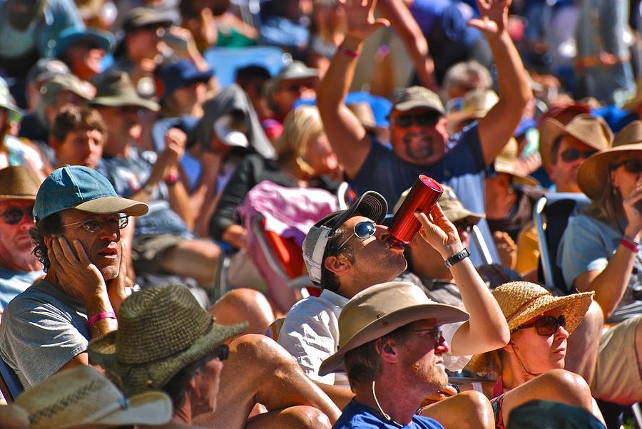 Strawberry Music Festival Photograph - Festive Crowd by Eric Tressler