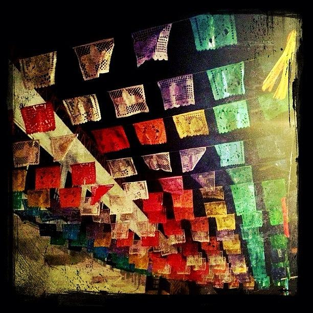 Mexican Photograph - Festive Mexican Street Decorations by Natasha Marco