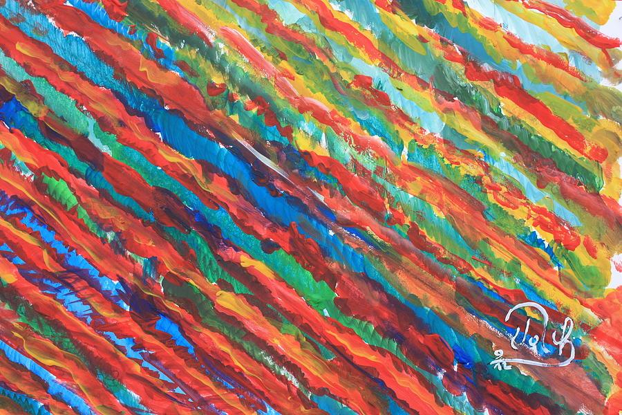 Feuerlandschaft Painting - Feuerwalzeaa by Klaus Rach