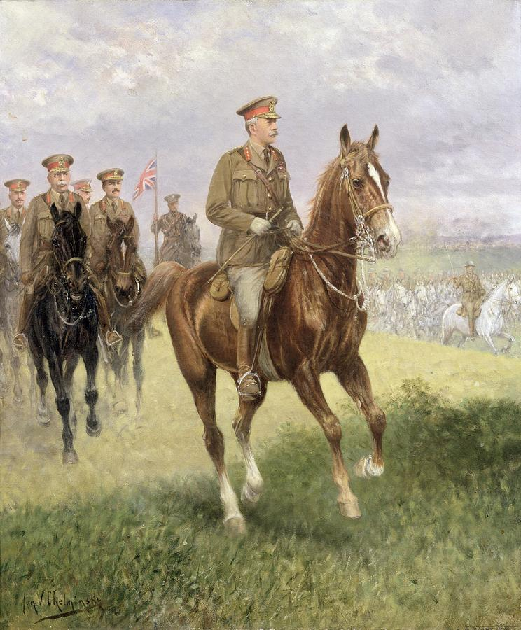 Field Painting - Field Marshal Haig by Jan van Chelminski
