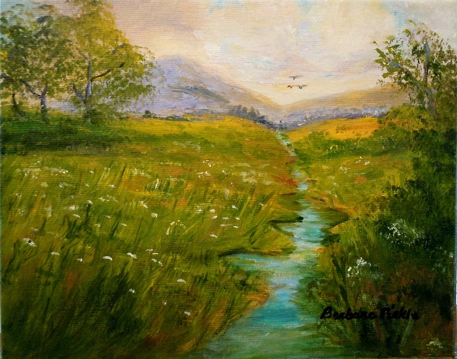 Flowers Painting - Field Of Queen Annes Lace by Barbara Pirkle